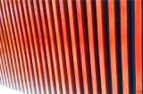 檀木色铝方管-凹槽铝方管 樱桃木铝方管-凹槽铝方管
