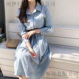 E15尾貨女裝好賣嗎折扣女裝 尾貨羽絨服批發藏藍色職業女裝