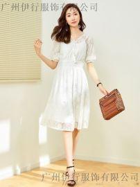 广州哪里有拉夏贝尔品牌折扣女装走份19春夏装库存