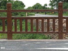 仿木梯形护栏塑料模具