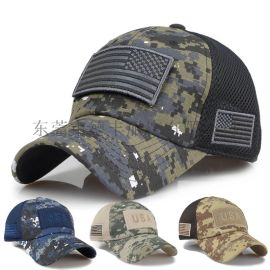 工厂定制户外防晒太阳帽 迷彩刺绣棒球帽鸭舌帽太阳帽