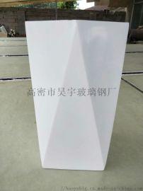 时尚创意商场玻璃钢花盆 商场户外玻璃钢不规则组合摆件产品定制