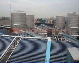公明太阳能公寓热水工程空气能结合