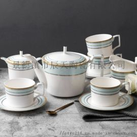 欧式茶具咖啡杯下午茶茶具套装 咖啡具骨瓷茶壶结婚
