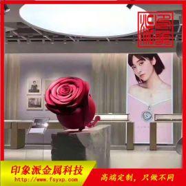 佛山厂家定制不锈钢玫瑰花制品 不锈钢工艺品厂家