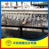 萍乡科隆DN5000不锈钢槽式液体分布器试水效果