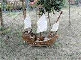 小型景观装饰郑和宝船模型木质海盗船仿古道具船