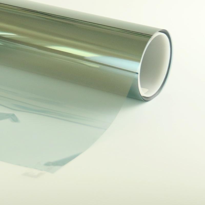 銷售汽車前檔風玻璃膜磁控濺射工藝藍色反光太陽膜