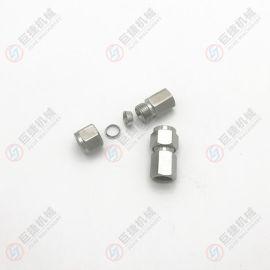 1/4-8内螺纹卡套接头 1/4-10内螺纹卡套接头 直通卡套接头 304