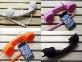 外贸出口防辐射听筒 复古免提磨砂iphone4s/5手机听筒环保电话