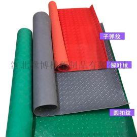 防滑胶板耐酸碱pvc软板绿色圆扣胶板