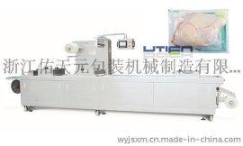 DZL-420R速冻鸡全自动拉伸膜真空包装机 佑天元定制