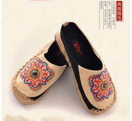 唐之舞1333泰国手工亚麻女式拖鞋厂家批发