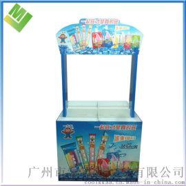 冰条展示架儿童食品展示架立地式展示架广州展会用展示架纸板展架