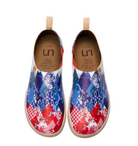 uin/U印彩繪旅行鞋秋冬新款運動休閒鞋情侶鞋板鞋帥性聯盟男女鞋