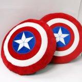 厂家专业定制美国队长盾牌抱枕毛绒玩具
