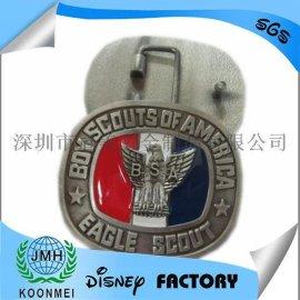美国童子军金属烤漆皮带扣头腰带扣定制