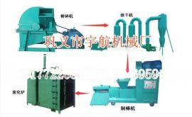 节能椰壳木炭机设备可随机调节物料的干湿度ym