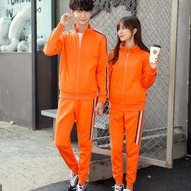 秋季套裝新款純棉休閒裝棒球衫拉鏈衛衣長袖運動裝批發定制印LOGO