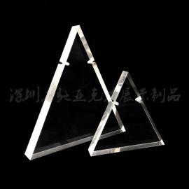力驰工厂定制有机玻璃三角形项链架三件套项链座亚克力首饰展示架