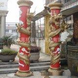 盘龙柱雕塑玻璃钢龙柱 玻璃钢罗马柱 广场酒店大堂龙柱 玻璃钢