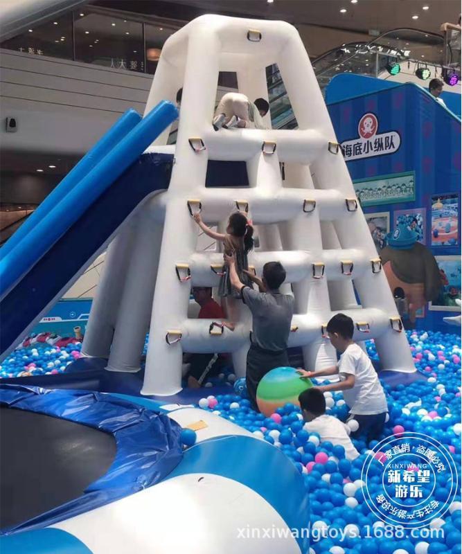 商超中庭百万球池乐园 充气水滚筒碰碰球 大型滑梯波波球池淘气堡