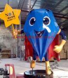 厂家供应 钻石超人雕塑玻璃钢工艺现代房地产摆设卡通雕塑人物