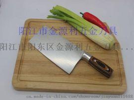 阳江不锈钢厨用刀 彩木砍切刀 现货