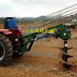 可选择不同直径的挖坑机,拖拉机安装植树打坑机
