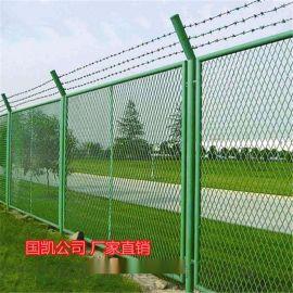钢板网护栏 热镀锌钢板板护栏 浸塑钢板网护栏