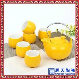 釉中彩茶具优点-六头色釉陶瓷茶具批发厂家- 订做高档商务礼品功夫茶具