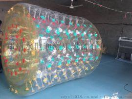 水上滚筒充气透明球球水上玩具水上乐园设备