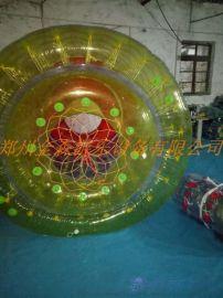 室外充气水池滚筒球/彩色水上步行球订制