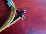 美国UL认证DC圆头电源线美式UL1015黄绿线1m