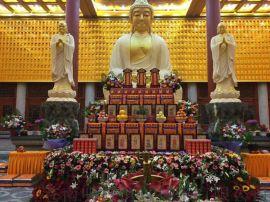 寺庙千佛殿佛龛 铝合金木雕万佛墙