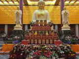 寺廟千佛殿佛龕 鋁合金木雕萬佛牆