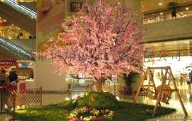餐厅摆饰仿真樱花树_婚庆樱花树造景_樱花许愿树