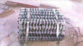 皮带输送机缓冲托辊双向螺旋橡  辊钢芯螺旋橡  辊