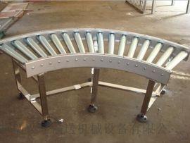 双层动力滚筒输送线生产分拣 倾斜输送滚筒