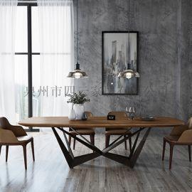 铁艺实木办公桌工业复古会议桌书桌