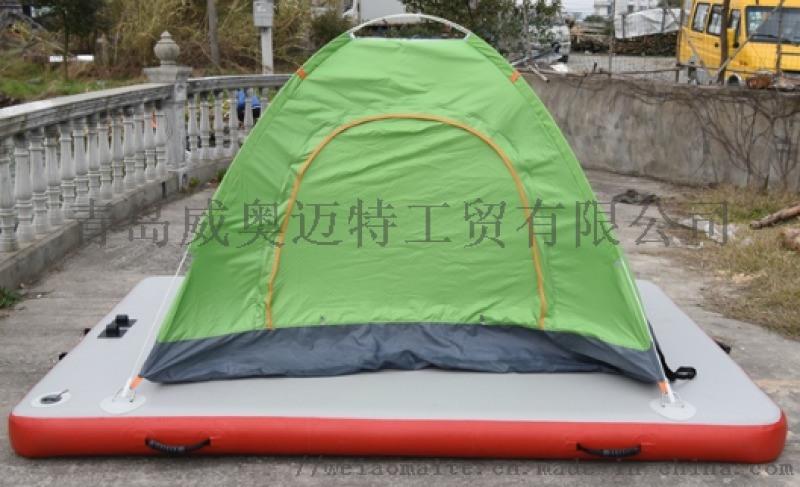 厂家直销充气水上瑜伽垫 充气防滑瑜伽垫