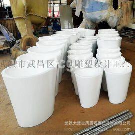 武汉房地产户外玻璃钢烤漆花盆
