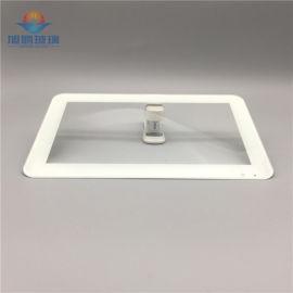 丝印玻璃,东莞丝印玻璃,白色丝印显示器玻璃