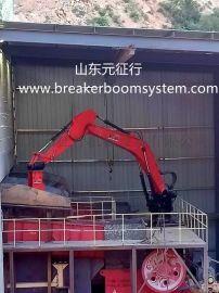 颚式破碎机料仓口固定式电动液压碎石机