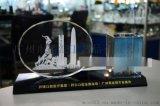 广州五羊水晶摆件礼品,广州水晶办公摆件定做,水晶五羊纪念品定做,佛山水晶纪念品制作