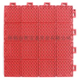 篮球场双层小米格软连接悬浮式拼装塑胶地板PP聚丙烯