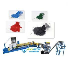 大块薄膜编织袋回收造粒生产线单阶压实水环切粒