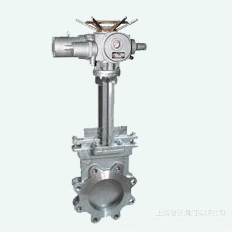 供应手动带气动刀形闸阀 PZ6S73手动带气动刀形闸阀