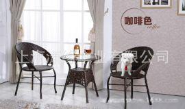 精品仿藤桌椅 户外藤编式桌椅休闲家具 家庭商业两用家具
