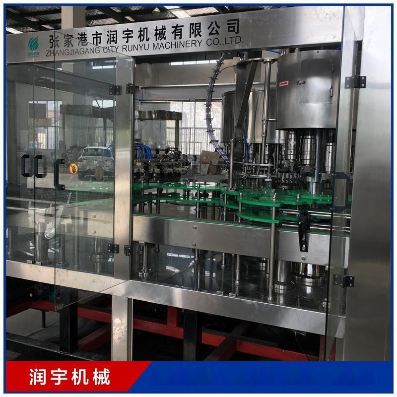 润宇机械厂家浓浆灌装机口服液24头灌装设备生产线 果汁灌装机